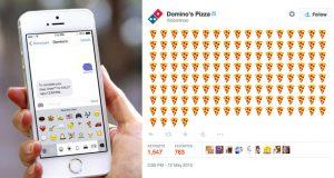 Emojis nas redes sociais - Tweet-a-pizza